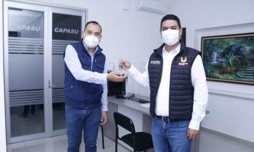 Presentan a Luis M. Magaña ante trabajadores de Capasu