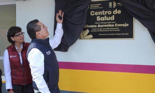 Entrega Gobernador nuevo Centro de Salud de Tzintzimeo